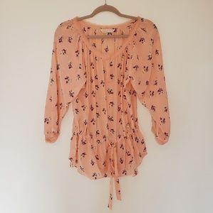 Rebecca Taylor Peach Silk Blouse